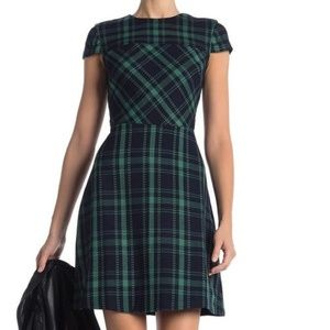 Vince Camuto Green Plaid Dress Size 12